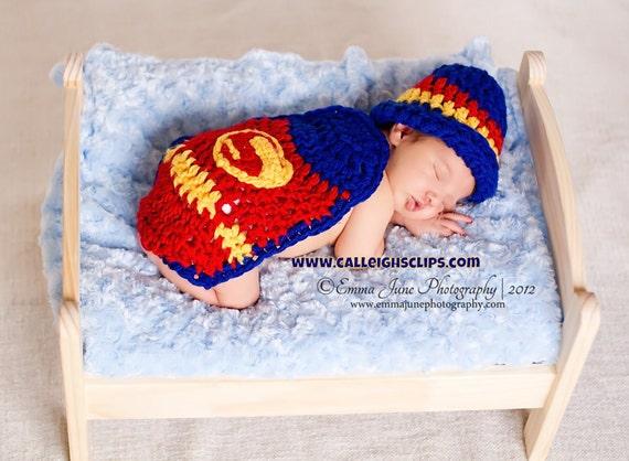 Instant Download Crochet Pattern - No 18 Superbaby - Cuddle Critter Cape Set