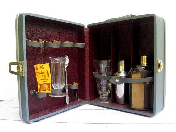 Vintage Portable Pub - Mid Century Travel Barware