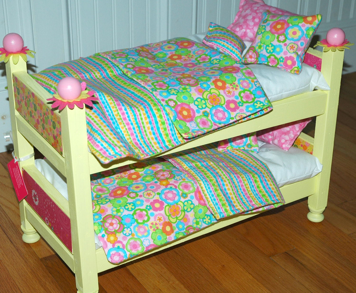 american girl doll bed sunny yellow doll bunk bed fits. Black Bedroom Furniture Sets. Home Design Ideas