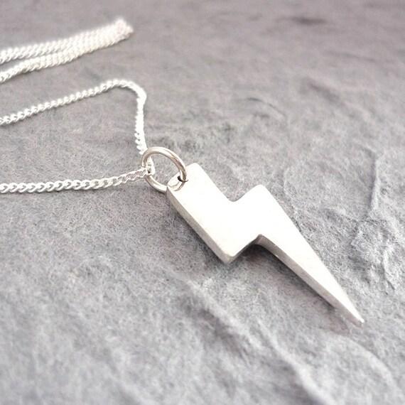 Sterling Silver Lightning Bolt Handmade Pendant