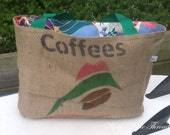 Eco-Friendly Market Tote Handmade from a Recycled Coffee Sack