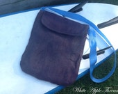 Recycled Hand Dyed Eco-Friendly Sling Shoulder bag - Handmade from Burlap Coffee Sack