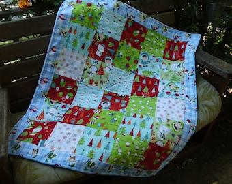 Winter baby quilt