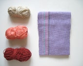 Handwoven Lavender Scarf for Children or Small size for Women