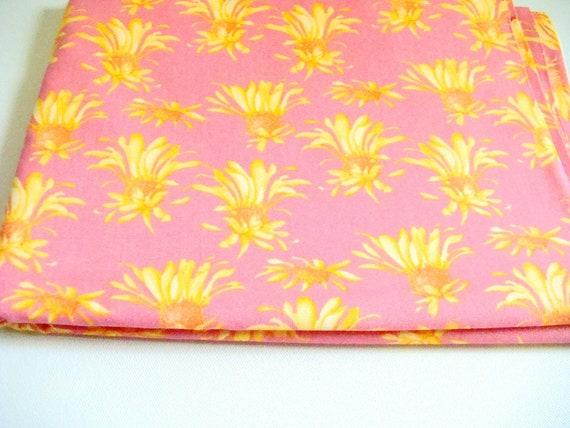 Tina Givens Georgina Madison Fabric, Beachside Blush Fabric, Coral Pink and Gold Fabric