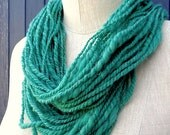 CACTUS. Hand Spun Alpaca and Merino Fiber Yarn. Minty Green Color. Small Farm Sourced, Organic Dyes. Support Small Businesses.