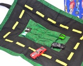travel hotwheels car carrier with road