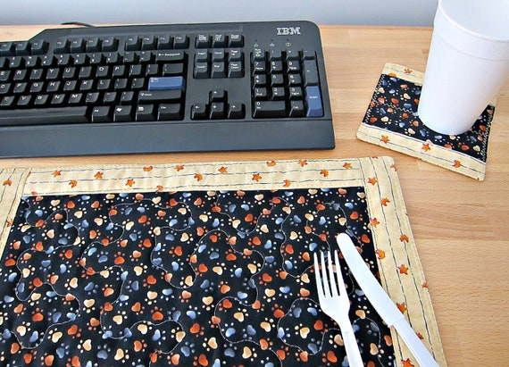 PAW PRINT Placemat Office Lunch Set