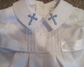 Baptism or christening outfit for baby boy