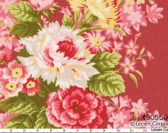 Hill Farm - Dark Pink Bouquet by Brenda Riddle for Lecien Fabrics - Last Yard
