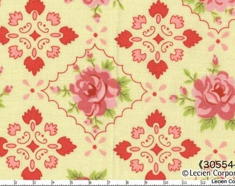 Hill Farm - Yellow Rose Mosaic by Brenda Riddle for Lecien Fabrics