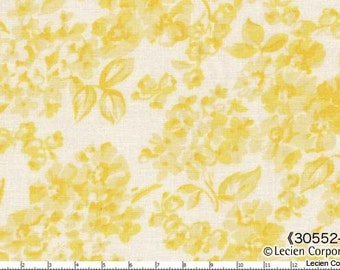 Hill Farm - Yellow Floral by Brenda Riddle for Lecien Fabrics