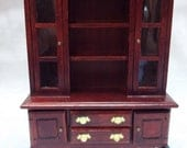 Vintage Wood Dollhouse China Cabinet Kitchen Cabinet