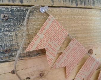 Handmade garland/ bunting newsprint paper