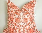 Orange Medallion Pillow Cover