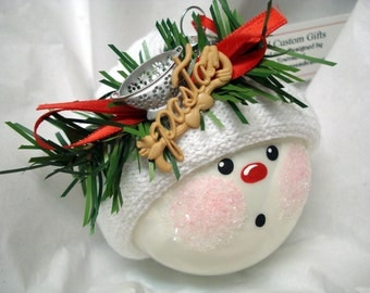SALE Cooking Christmas Ornament with Pasta & Colander