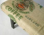 Re-Purposed El Salvador Coffee Bag Bench