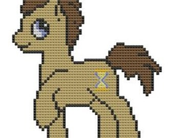 Cross Stitch Pattern Doctor Whooves My Little Pony Dr Hooves Time Turner