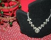 Rhinestone Princess Necklace Stunning and Lovely Kramer of New York