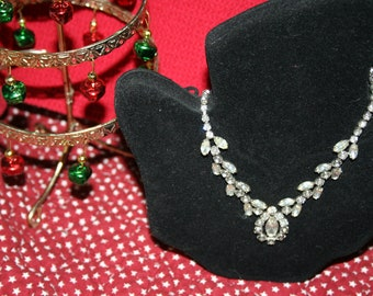 Rhinestone Princess Necklace Stunning and Lovely Kramer of New York