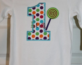 Lollipop birthday shirt