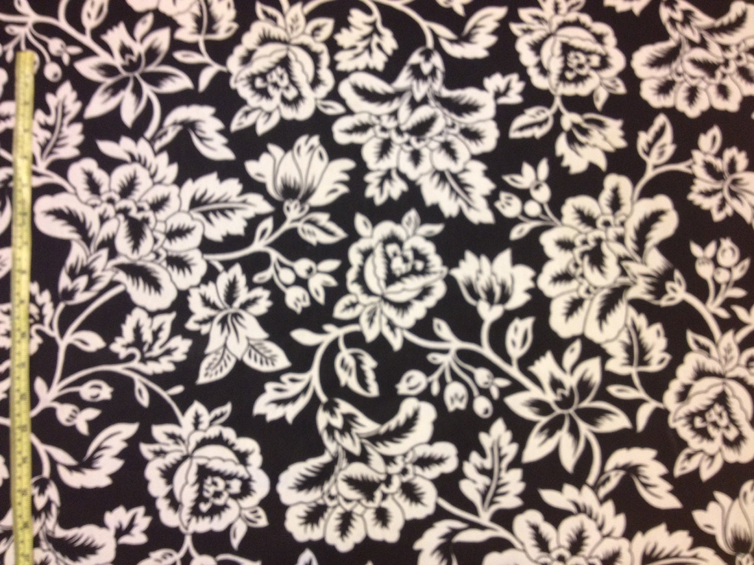 CLEARANCE Black and White Floral Home Decor by