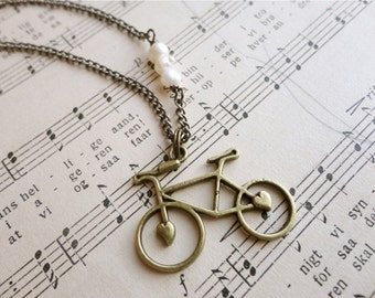 Darling bicycle and pearl necklace, Pedal Pusher