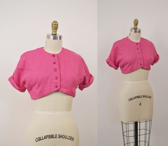 1950s Pink Bolero / 50s Bolero