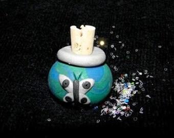 Flower Fairy Sparkles Miniature Jar of Glittering Dust for Imaginative Play BUTTERFLY design