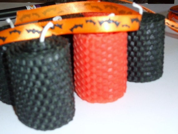 Halloween Votive Beeswax Candles