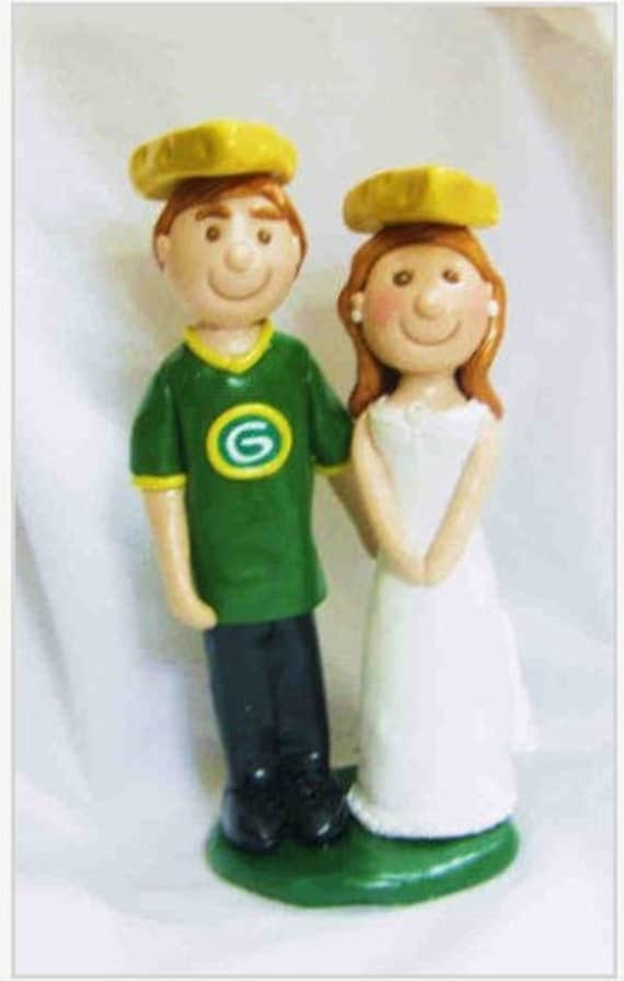 green bay packers wedding cake topper items similar to green bay packers cheesehead cake topper 14965