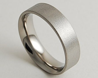 Mens Wedding Band , Titanium Ring , Promise Ring , Apollo Band with Comfort Fit Interior