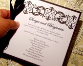 Damask Ball Wedding Program or Event Program