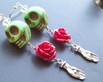 Sugar Skull Pinup Inspired Sugar Skull Earrings