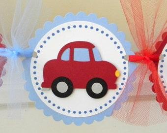 "Little Red Car ""Happy Birthday"" Banner"