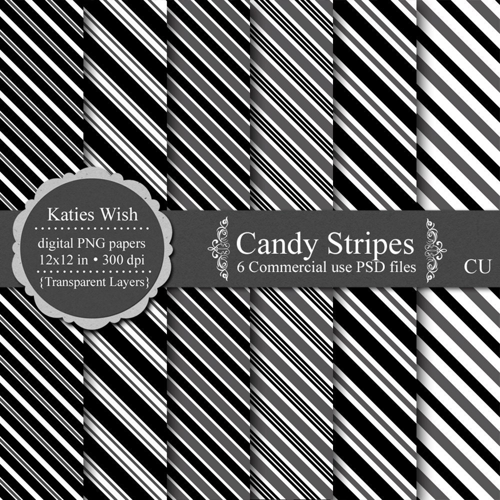 Candy Stripe Template digital overlay kit by KatiesWish on Etsy