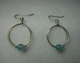 Aqua marine bead Earrings