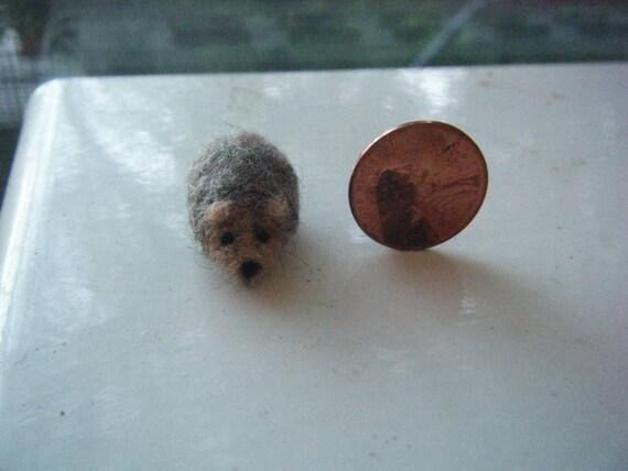 CUSTOM LISTING for Linda - Miniature Needle-felted hedgehog and goldfish