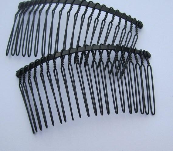 50 hair combs metal combs black metal hair combs 20 for Metal hair combs for crafts