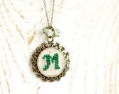 Personalized Initial necklace - Monogram jewelry - Initial jewelry - Bridesmaids necklace