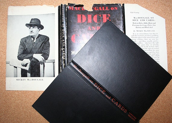 Vintage Book MacDougall on Dice and Cards Modern Rules Odds Hints and Warnings for Craps Poker Gin Rummy Black Jack 1944
