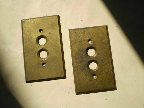 Antique Brass Light Switch Plates or Covers - Architectural Salvage
