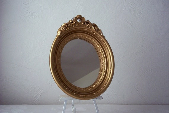 vintage oval mirror framed home interiors