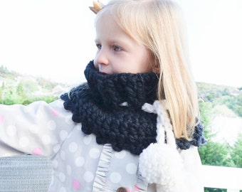 Crochet PATTERN Toddler Kids Adult nackwarmer cowl scarf infinity. (032)