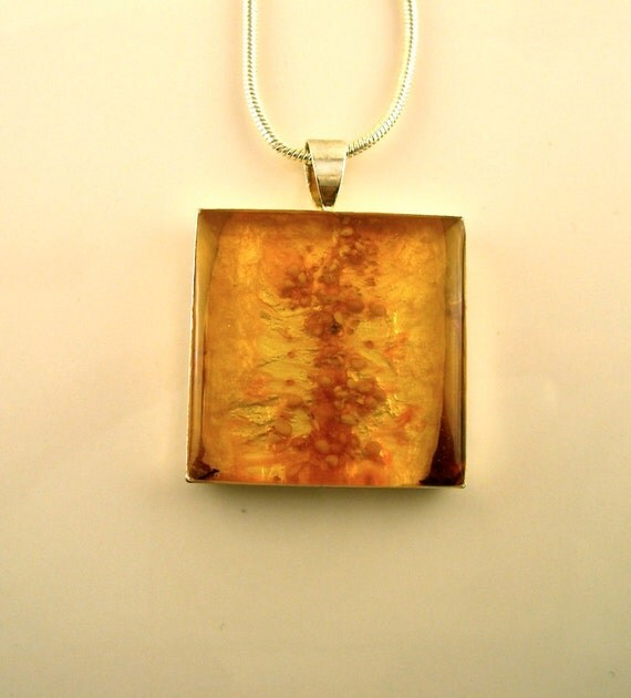 SALE Real Fig Pendant -Real Fruit Jewelry
