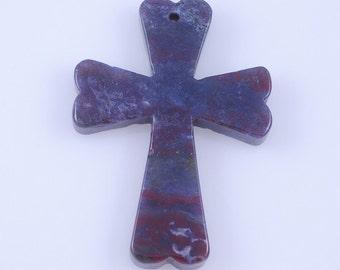 Indian Agate Cross pendant bead J39B9871