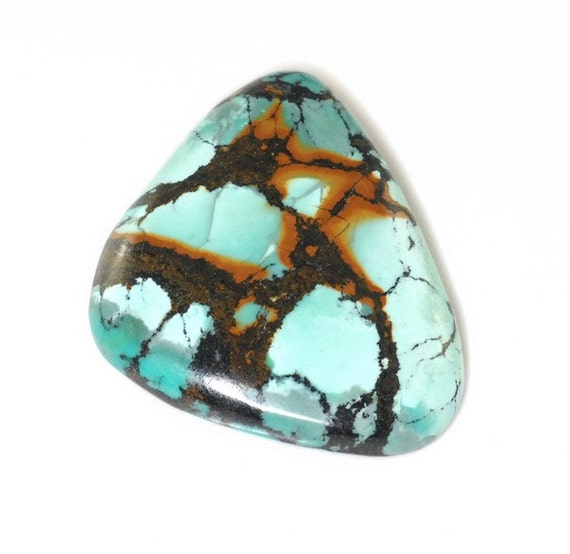 Natural Turquoise Cabochon 30x25x5mm J25B6383