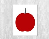 Apple Print - 8x10 Print, Apple, Red, Rustic, Farmhouse Print, Kitchen Print, Kitchen Decor, Fruit, Woodland, Fall