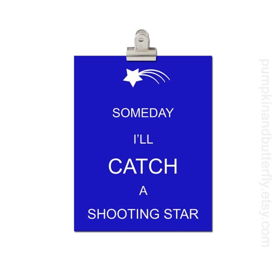 Kids Modern Wall Art, Home and Living Wall Decor, Modern Nursery, Wall Hangings, Wish on A Star, Custom, Someday I'll Catch a Shooting Star
