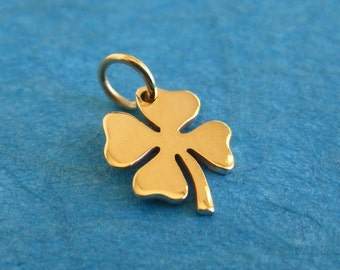 Bronze Four Leafed Clover Charm